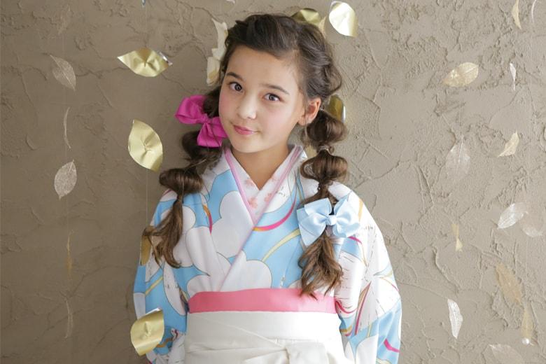 袴 髪型 小学生