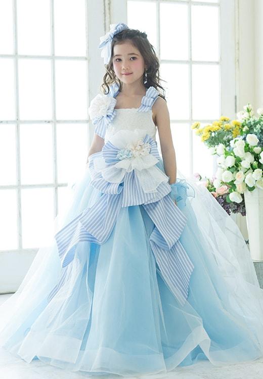 7歳ドレス水色