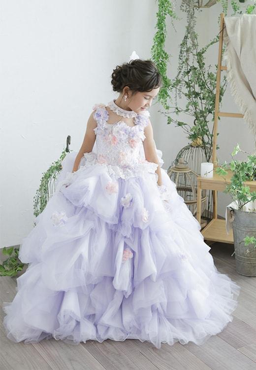 7歳ドレス紫