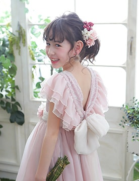7歳ドレス シンプル